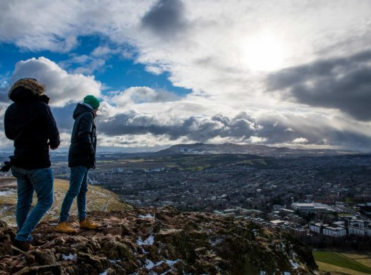 Arthur's seat, the best place from where to contemplate Edinburgh