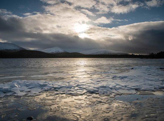 Loch Morlich has frozen over