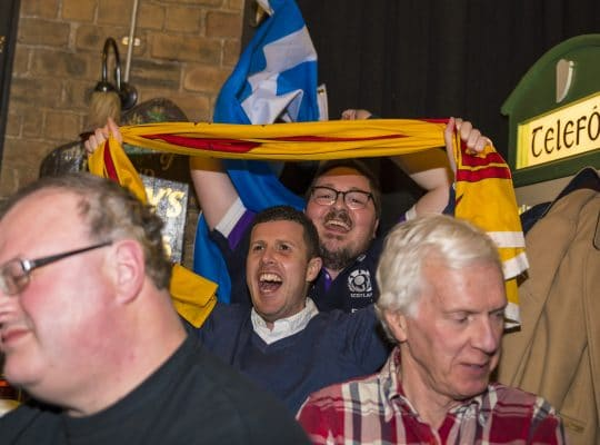 The Saltire and the rampant lion