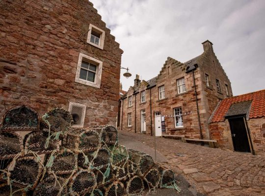 A lobster on the port of Crail