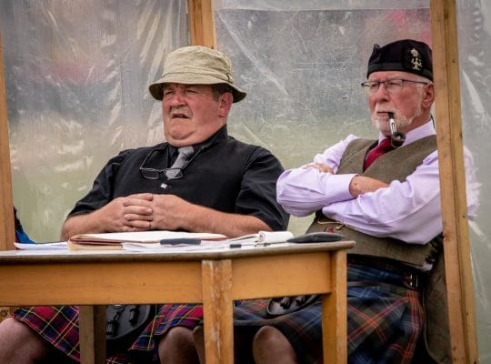 Highland Games, under the expert eye of referees