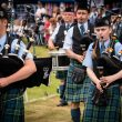 Highland Games, the parade of pipe bands