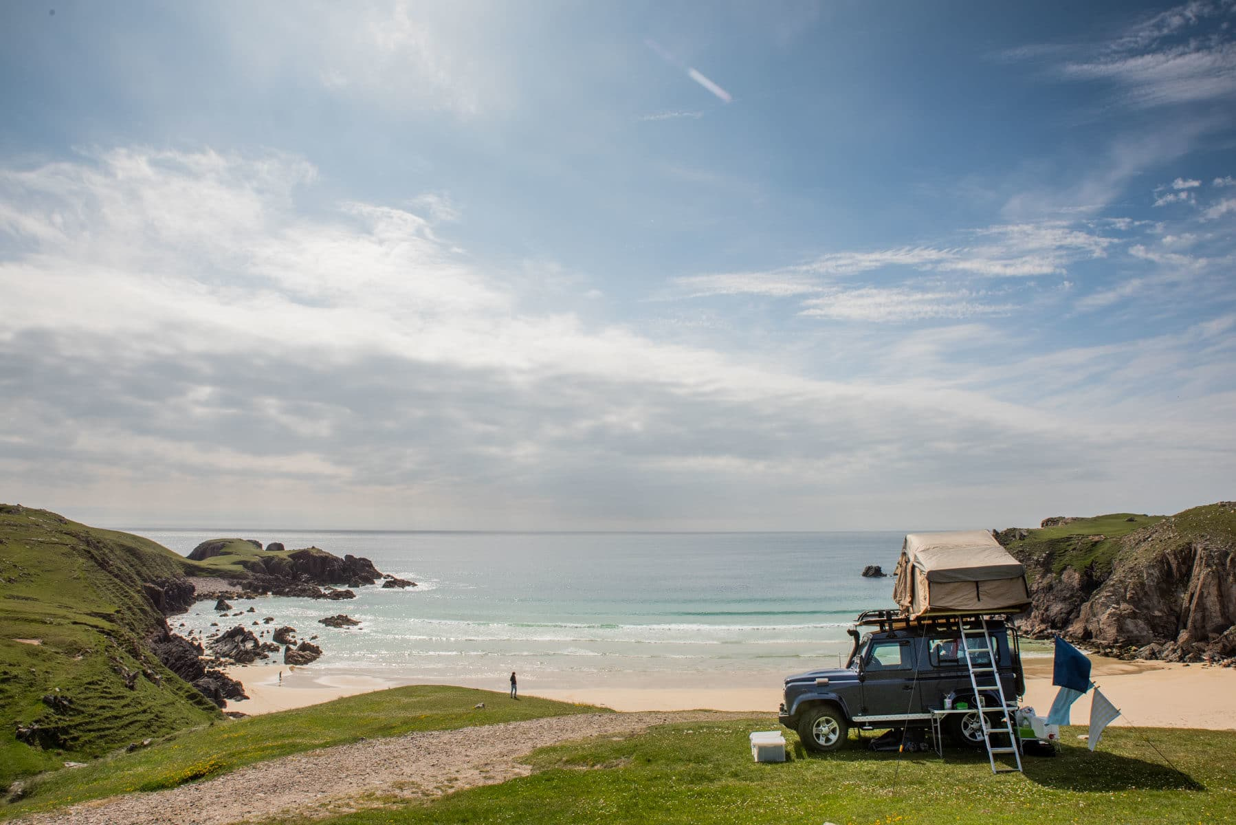 Camping on the beach in Scotland