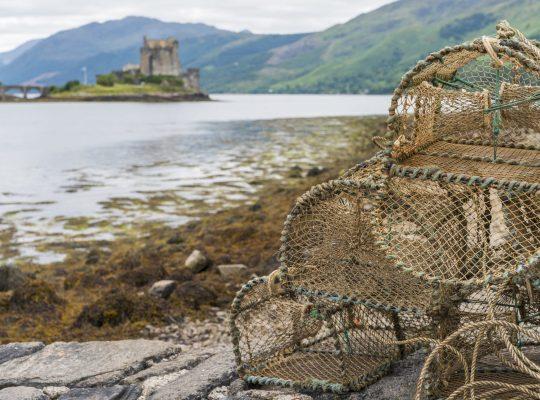 The fishermen of Eilean Donan Castle
