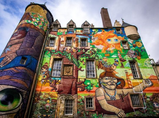 Kelburn Castle, the graffiti castle