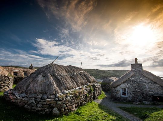"The ""black houses"" of the Lewis' peasants"